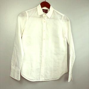 JCrew 100% linen button down darted shirt.
